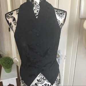 Bebe Vintage Vest - 10 jacquard vest black